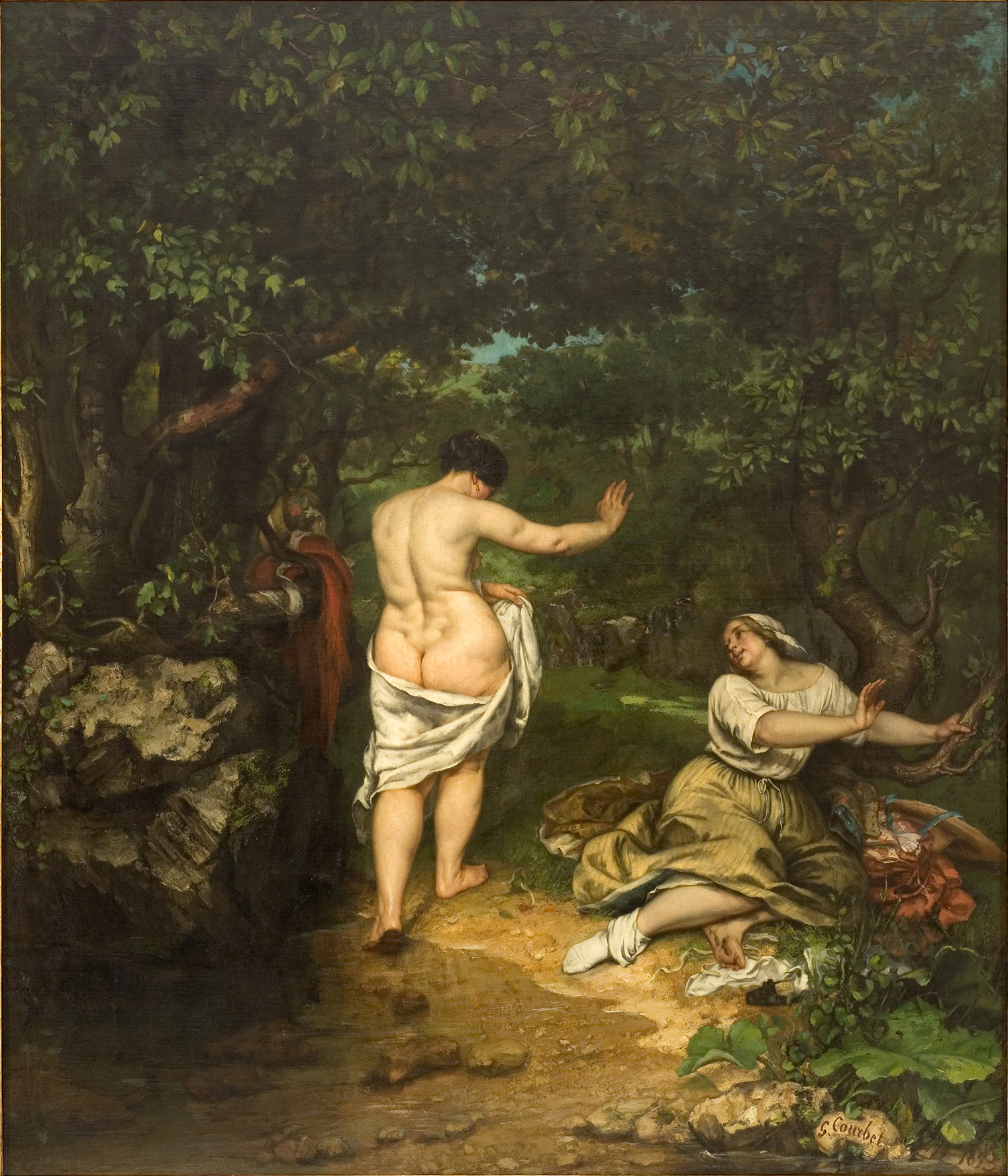 G. Courbet_Le bagnanti (Museo di Montpellier)