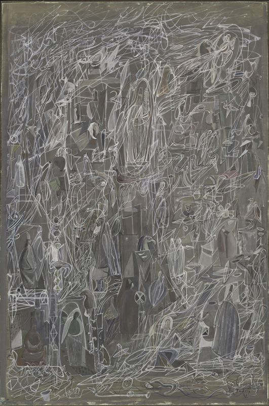 Luce filante, 1942, Tempera su pannello,The Museum of Modern Art, New York Acquisto, 86.1944 © 2017 Mark Tobey / Seattle Art Museum, Artists Rights Society (ARS), New York.