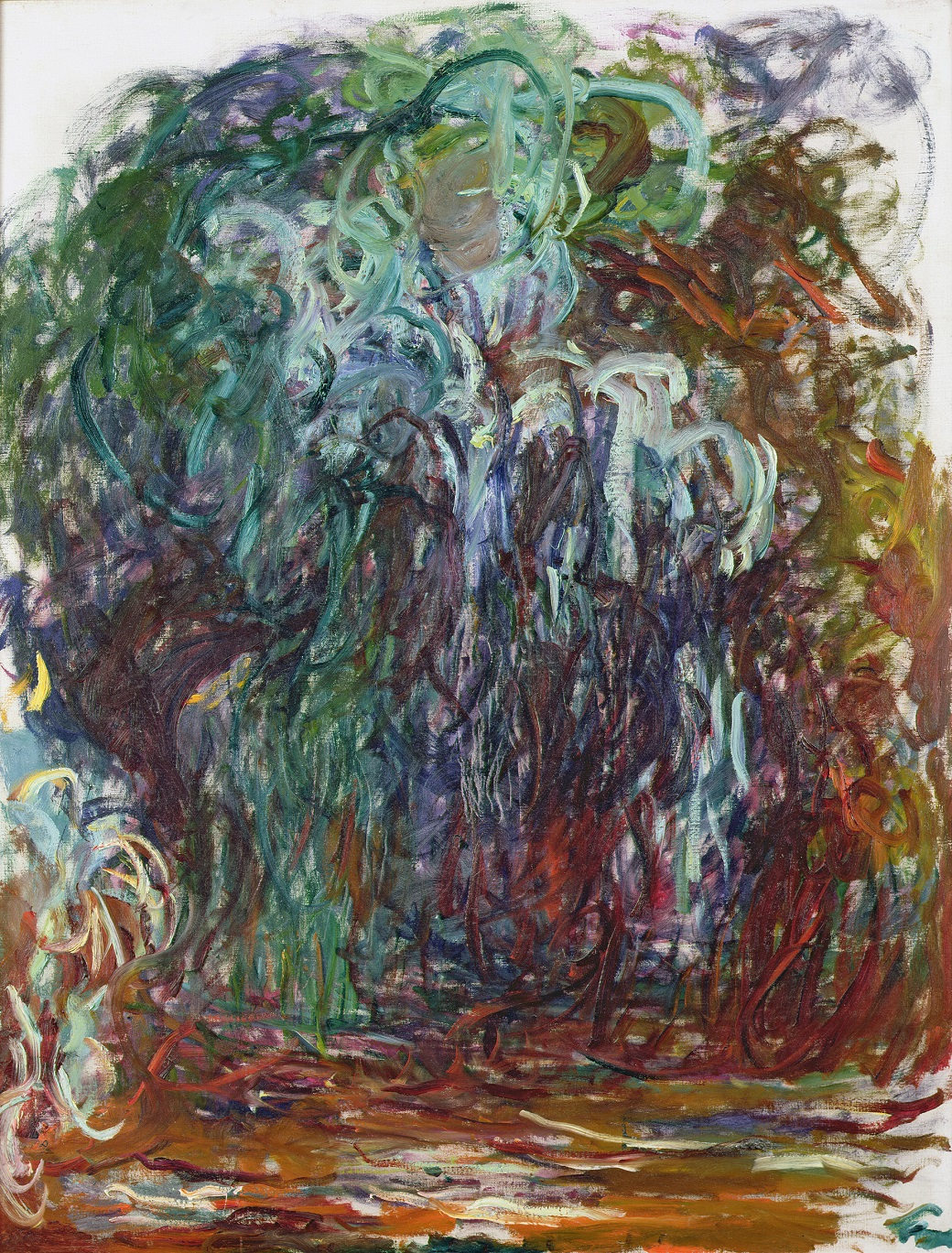 Claude Monet, Salice piangente (1920-21), olio su tela. Parigi Museo Marmottan Monet (copyright Bridgeman-Giraudon press)